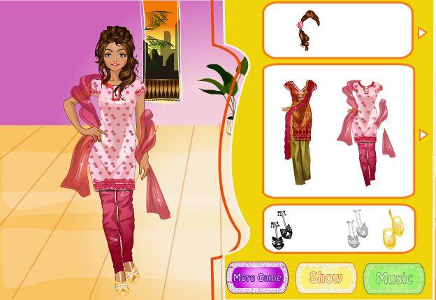 android Indian Bride Dress Up Makeover Screenshot 4