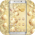 Gold Snow Ball Theme download