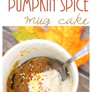 Flourless Pumpkin Spice Mug Cake and Setting Up a Coffee Bar!