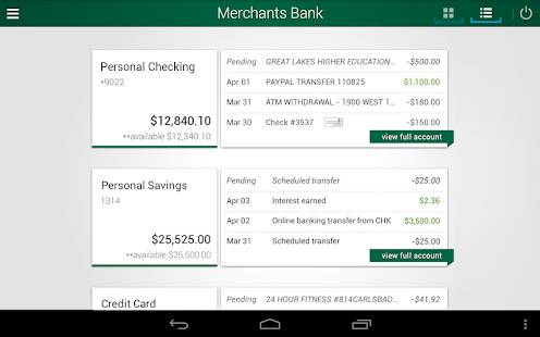 Merchants Bank - screenshot thumbnail