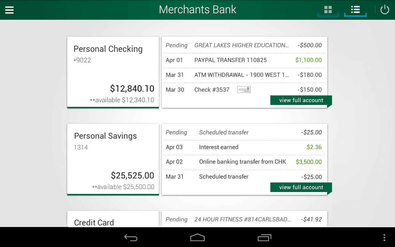 Merchants Bank- screenshot