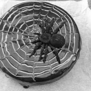 Gluten-free Chocolate Spider-web Cake.