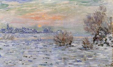 """Photo: Claude Monet, """"Inverno sulla Senna a Lavacourt"""" (1880)"""