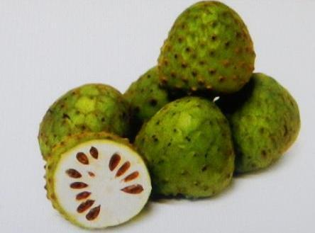 CHERIMOYA....This heart-shaped fruit with a tough green skin is best when it is a...