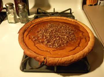 Pumpkin Pie with Praline Glaze