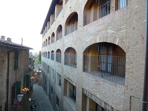 Photo: Our hotel room is on the far end of the 3rd floor.
