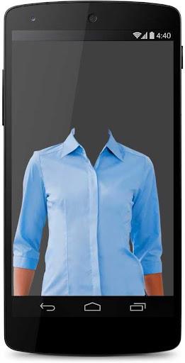 Woman Shirt Photo Suit Montage