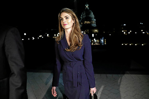 White House communications director Hope Hicks leaves the US Capitol after attending the House intelligence committee closed-door meeting on February 27 2018. Picture: REUTERS