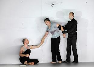 Photo: Theater an der Wien: IPHIGENIE EN AULIDE ET TAURIDE. Inszenierung: Torsten Fischer. Premiere 16.10.2014. Stephane Degout, Rainer Trost, Andreas Jankowitsch. Foto: Barbara Zeininger