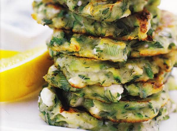 Zucchini Fritters With Yogurt Dip Recipe