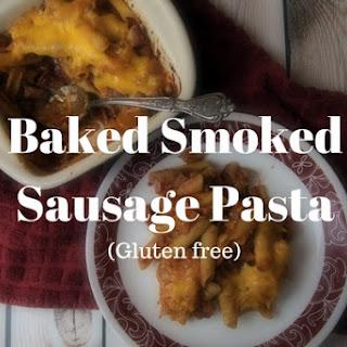 Baked Smoked Sausage Pasta.