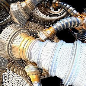 Plumbing by Ricky Jarnagin - Illustration Abstract & Patterns ( mandelbulb, ricky jarnagin, fractal, dsynegrafix, abstract, 3d art )