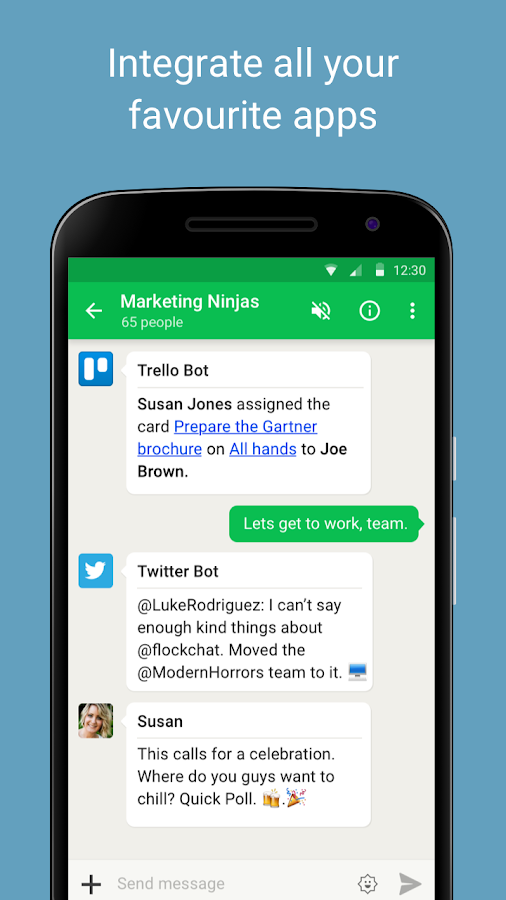 Flock: Team Communication App- screenshot