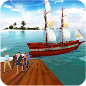 Water Taxi: Pirate Ship Transport 3D
