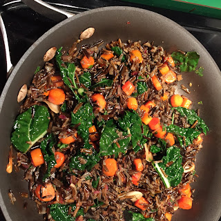 Wild Rice with Carrots & Kale Recipe