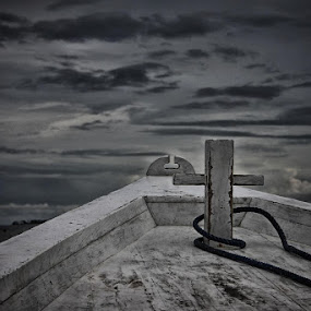 Lombok Strait by Paul Carter - Landscapes Weather ( clouds, water, indonesia, weather, boat )