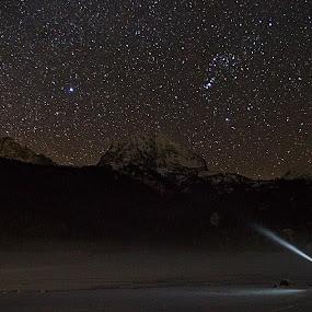 Return of the Jedi by Dejan Dajković - Landscapes Starscapes ( light painting, night photography, night, light, nightscape )