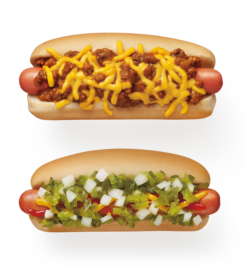 Includes 6-inch All-American or Chili Cheese Coney