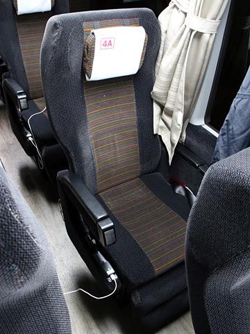 阪急バス「大阪・京都~富山線」 1145 シート