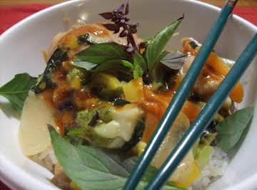 Thai Curried Chicken or Shrimp (Erik style)