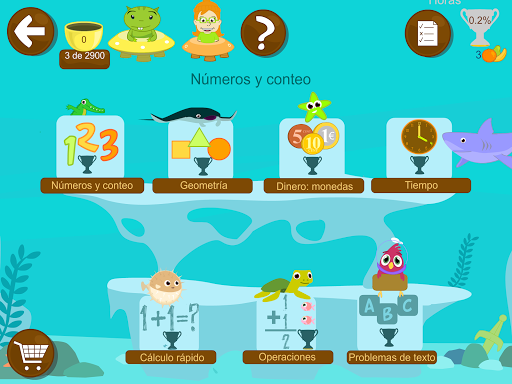 Matemáticas con Grin I 4,5,6 años primeros números screenshots 1