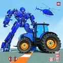 Tractor Robot Transform Car War : Moto Robot Games icon