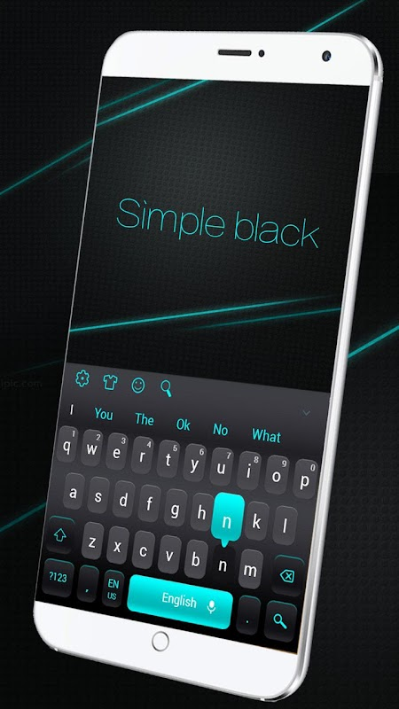 Simple Black Keyboard screenshots