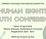 Human Rights Youth Conference : Stellenbosch University Department of Psychology Colloquium