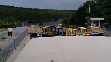 Photo: Looking BACK from the top of Lock 12. That is quite a drop there.