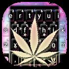 Galaxy Weed Tema de teclado icon