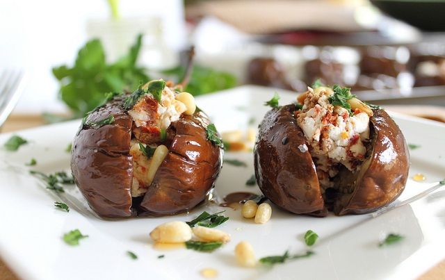 Roasted Baby Eggplants with Goat Cheese Stuffing Recipe