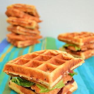 Chicken and Waffle Sandwich.