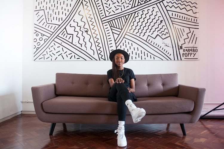 Karabo Poppy Moletsane is working on a mural in Salt Lake City, Utah and will soon head to New York, where she'll be meeting with galleries to discuss prospects for her solo exhibition next year.