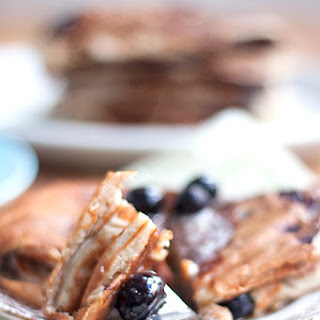 Banana and Blueberry Whole Grain Pancakes