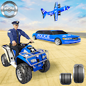 US Police Quad Bike Car Transporter Games icon