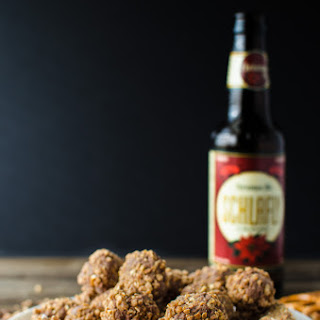 Chocolate Beer Truffles with Beer Pretzel Praline