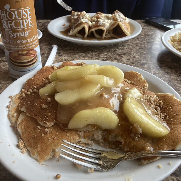 I ordered the cinnamon apple and added sweet pecans to the short stack and it was AHMAZING!