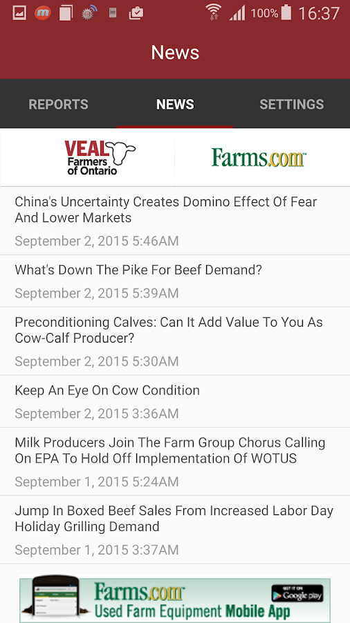 Veal Market Report- screenshot