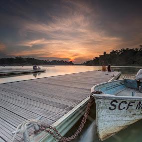 Sunset with Hope by Sherry Zhao - Landscapes Sunsets & Sunrises ( nature, serenity, sunset, travel, landsc, singapore )