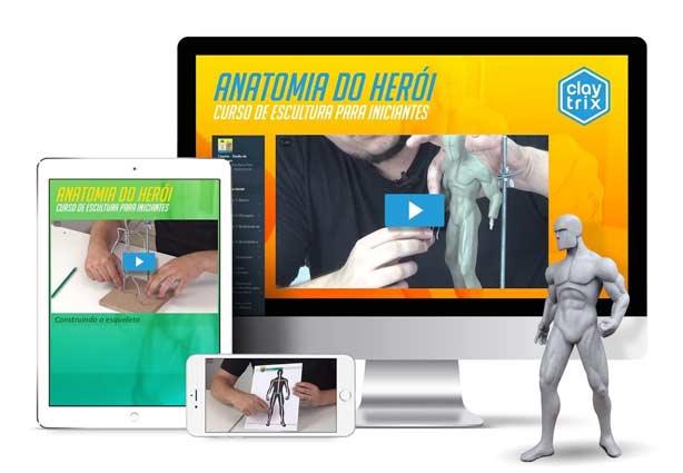 Detalhes do Curso de Escultura Para Iniciantes Anatomia do Herói - Claytrix