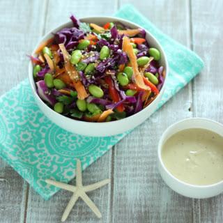 Detox Rainbow Salad with Tahini Dressing