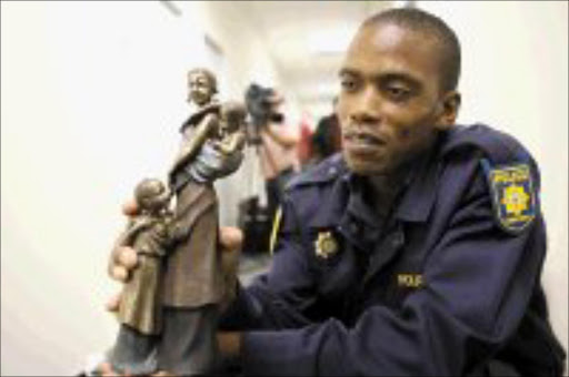 GOOD COP: Airport police constable Maepa arrested seven people for theft. Pic. Lucky Nxumalo. © Sowetan.