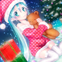 Cute christmas girl theme 1366x768