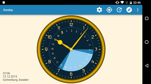 Sunday - Astronomical Clock Widget screenshot 9