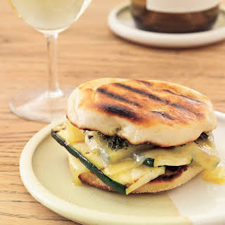Grilled Gruyère-and-Zucchini Sandwiches with Smoky Pesto.