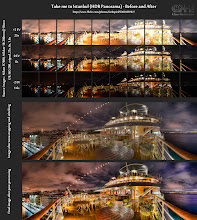 """Photo: HDR Panorama - Before-and-After ( photo: bit.ly/gp-take )  This is the before-and-after comparison of the HDR Panorama I posted last Wednesday. On that occasion, I """"only"""" had my 18-200mm lens with me. Which means that I had to take a lot of photos to create this. Overall, it consists of 30 single exposures (10 exposure series). These images where then merged into HDRs, tone-mapped, and the resulting images were stitched in Photoshop.  Quick Tip If you want to something like this, you absolutely need a precisely adjusted panorama adapter that lets you rotate your camera around the no-parallax point. Otherwise, your stitching software will produce errors or give up entirely. Read my recipe at http://bit.ly/hdrc-vertotripod. This tuorial is tailored to Vertoramas, but it also applies to panoramas.  #hdr #panorama #beforeandafter"""