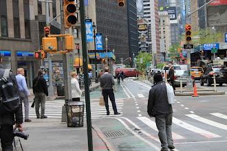 Photo: Bike Path and pedestrian area at Broadway, New York