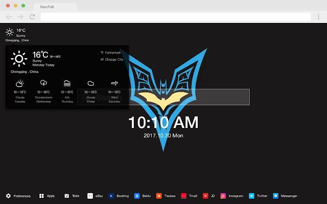 Batman New Tab Page HD Popular DC Themes