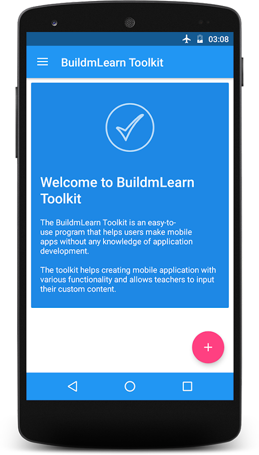 BuildmLearn Toolkit- screenshot