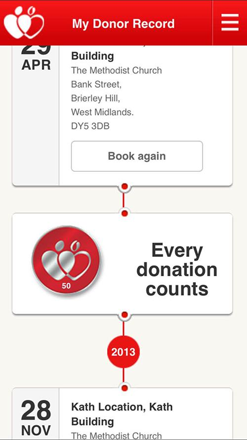 NHSGiveBlood- screenshot